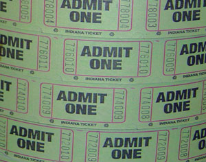 entradas cine indiana ticket admit one